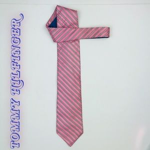 Tommy Hilfiger men's tie Pink and blue